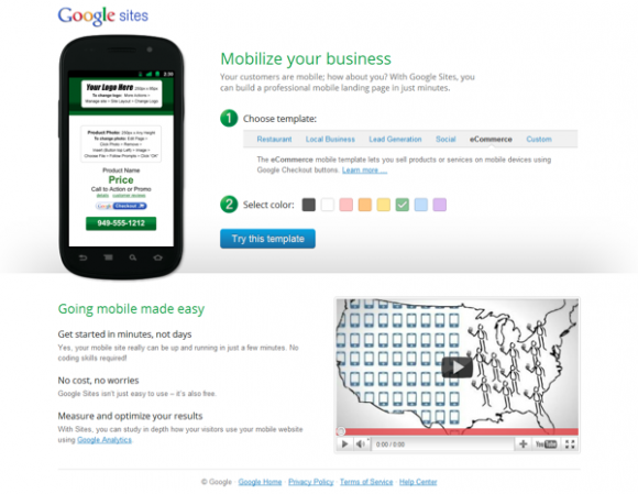 Google release Free Mobile Website Building Tool; no Coding Skill required