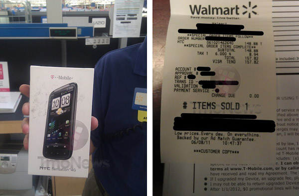 HTC Sensation 4G for sale in Walmart, Earlier than actual Release Date