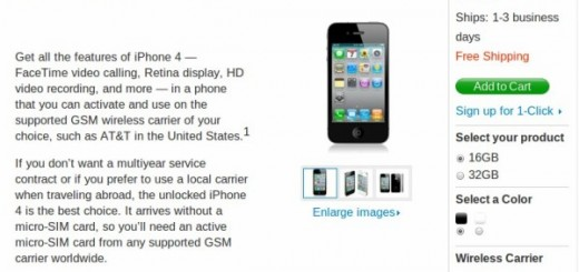 Unlocked Apple iPhone 4 Priced $649 in Apple Store