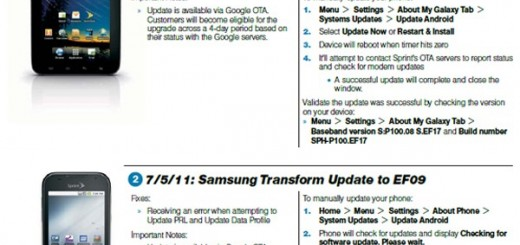 Sprint Samsung Galaxy Tab Android 2.3 Gingerbread Update Release Date July 5th