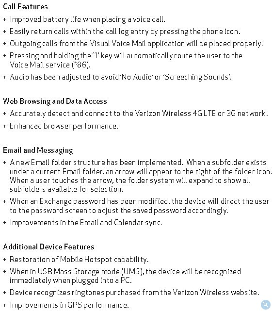 Verizon Samsung Droid Charge 4G Smartphone OTA Update for Bug Fixes and Improvements released
