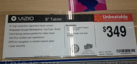 Walmart Price for Vizio VIA Android Tablet revealed; Releasing Soon?