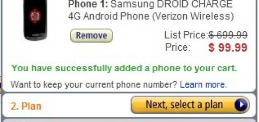 Amazon offers Verizon Samsung Droid Charge 4G for just $99.99