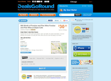 Groupon sued over expiration dates; DealsGoRound now selling unused deals