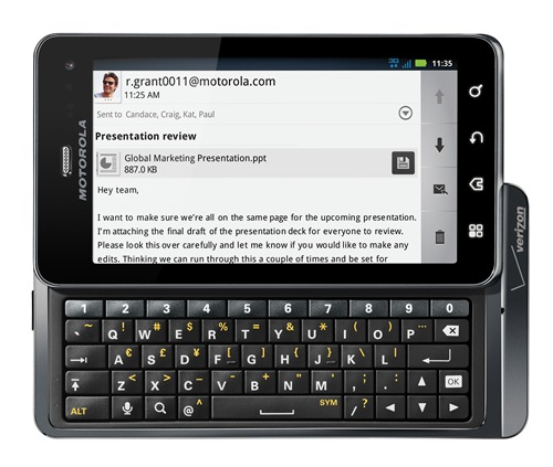 Verizon Motorola Droid 3 Release Date on July 14th; Priced as $200, Pre-order started now