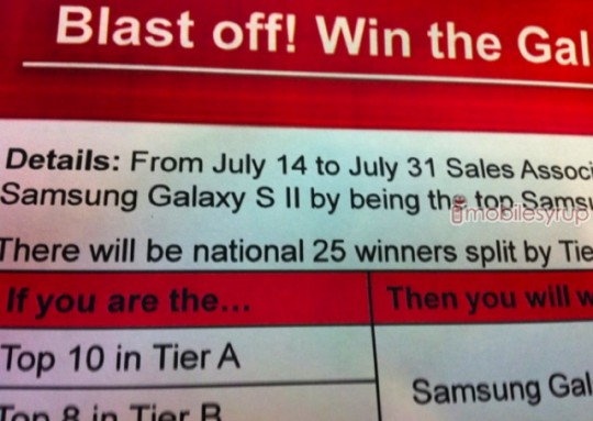 Samsung Galaxy S II for Virgin Mobile Release date July 14?
