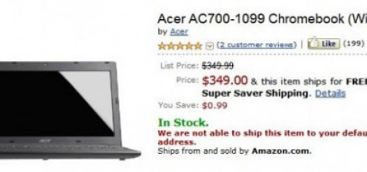 Acer AC700 Chromebook WiFi goes on Sale for a Price of $349 at Amazon