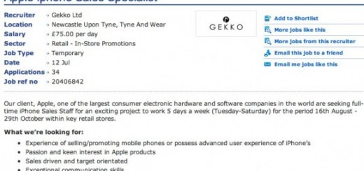 iPhone 5 release date on August 16? Apple Store job posting saying so!