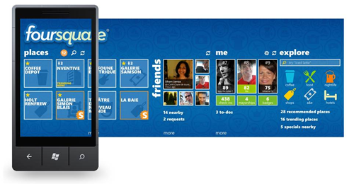 Foursquare App for Windows Phone 7 gets updated to V2.0; new Features and new Design!