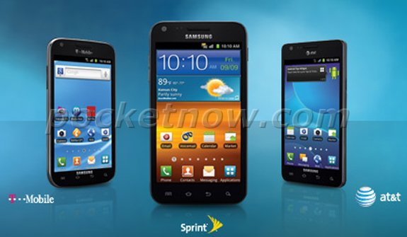 Image of AT&T, T-Mobile and Sprint Galaxy S II Variants spotted