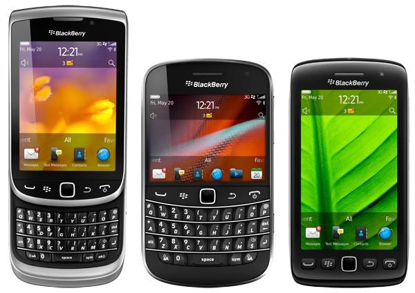 BlackBerry Torch 9810, Torch 9860/9850, Bold 9900/9930 Smartphones unveiled; Specs and expected Release Date