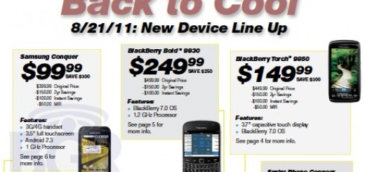 Sprint BlackBerry Bold 9930 and Torch 9850 Price and Release Date revealed?