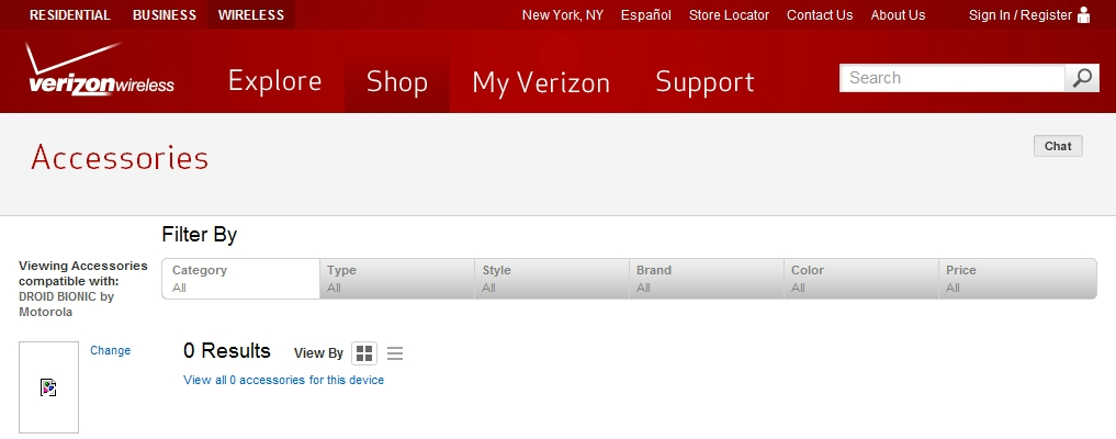 Motorola Droid Bionic 4G and XOOM 4G LTE devices appear on Verizon's accessory page