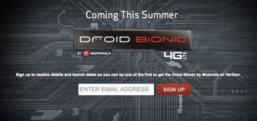 Sign Up Page for Motorola Droid Bionic 4G goes live