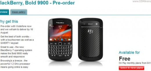 BlackBerry Bold 990 up for Pre-order at Vodafone UK and Carfone Warehouse; Release Date August 12