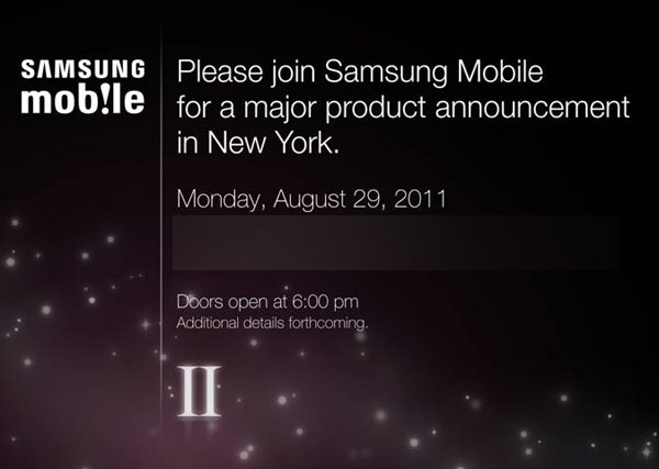 Samsung Galaxy S II Release Date for US confirmed to be August 29th