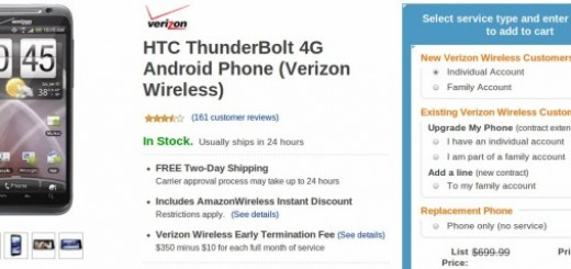 Amazon Price Cut: Verizon HTC Thunderbolt offered for jut $0.01