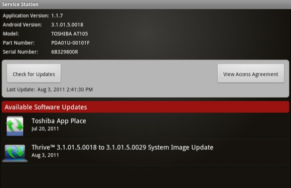 Toshiba Thrive gets an Update; fixes Bugs with Sleep Mode