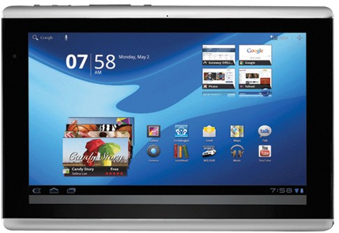 Gateway TP Series A60 Tablet released as a rebranded Acer A500; Priced $400