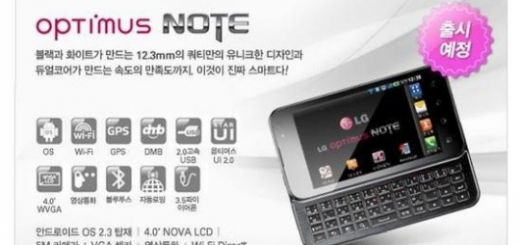 Image of LG Optimus Note QWERTY Smartphone spotted; Specs revealed