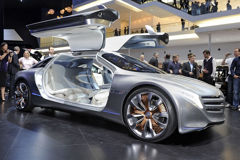 Mercedes Benz F 125 Gullwing Plug-in Hybrid Concept unveiled at Frankfurt Auto Show 2011