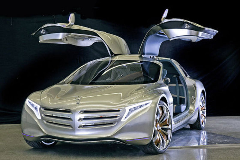 Images of Mercedes-Benz F 125 Coup with Gullwing Door revealed ahead of Frankfurt Auto Show