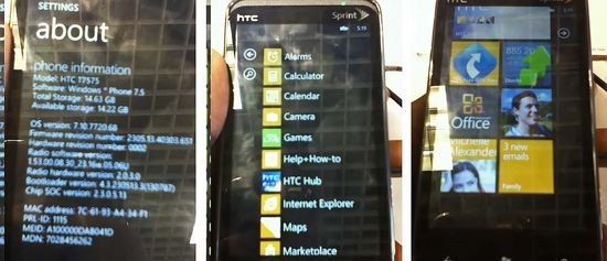 Sprint HTC Arrive spotted with Windows Phone Mango on board; release soon?