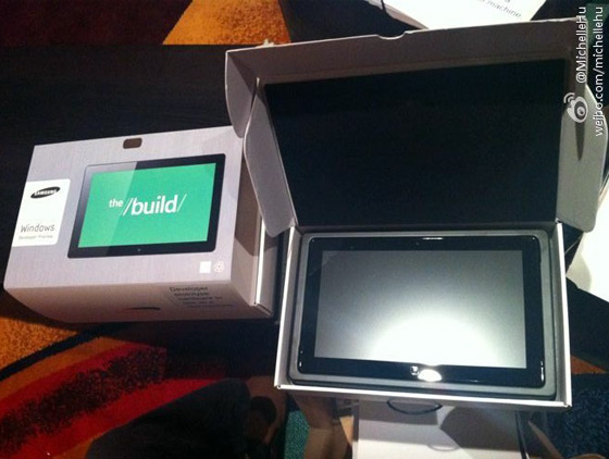 Image of Samsung Windows 8 Tablet surfaced ahead of Microsoft BUILD Conference