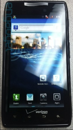"New Images of Droid Razr and 8.2"" XOOM 2 Tablet spotted"