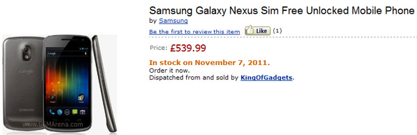 Motorola RAZR and Galaxy Nexus on Amazon UK with Price and Release Date; Verizon Droid RAZR for Pre-order starting October 27th