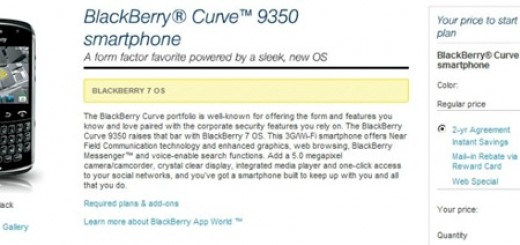 Sprint releases BlackBerry Curve 9350; Pricing $49.99
