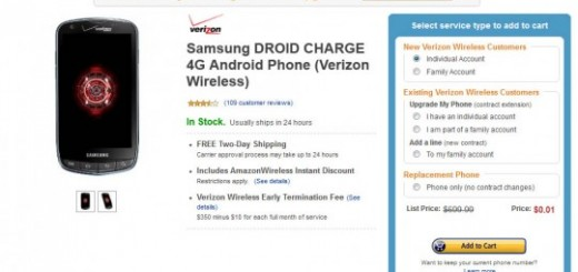 Amazon Deal: Verizon Samsung Droid Charge LTE for just $0.01