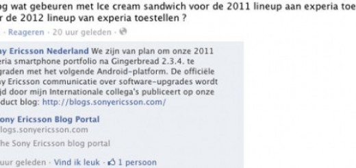 Sony Ericsson to update 2011 Android Smartphones to 4.0 Ice Cream Sandwich