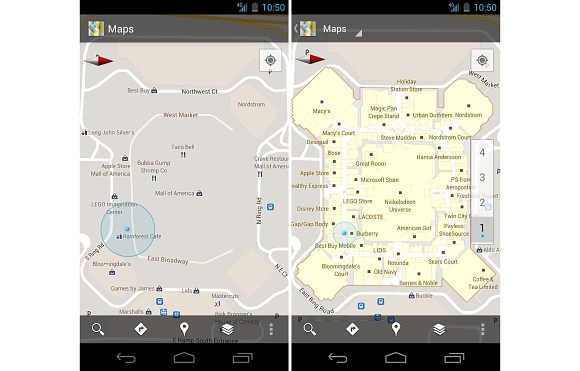 Google Maps for Android updated to 6.0 ; features Indoor Maps