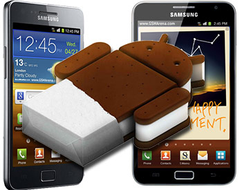 Samsung to release 4.0 Ice Cream Sandwich Update for Galaxy S II and Galaxy Note in March