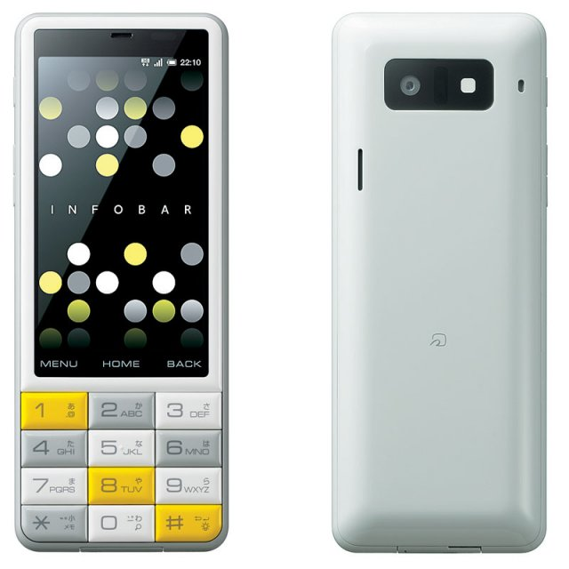 KDDI INFOBAR C01 Colorful Android Phone with Keypad unveiled; Specs and VIdeo
