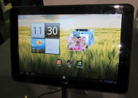 CES 2012: Acer Iconia Tab A510 with Tegra 3 Processor unveiled with Specs