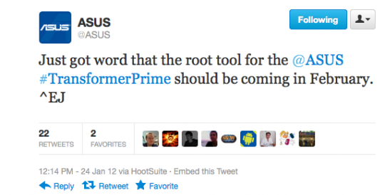 ASUS to release Unlocking Tool for Transformer Prime in February