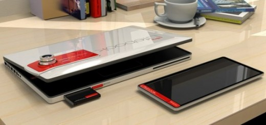 Fujitsu LIFEBOOK2013 Laptop Concept; Next-Gen Laptop with Tablet, Smartphone and Camera in one Chassis