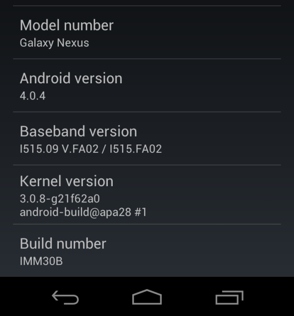 Verizon Samsung Galaxy Nexus gets unofficial Android 4.0.4; brings Improvements