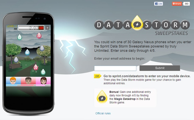 Sprint Samsung Galaxy Nexus to hit in April; win a Galaxy Nexus