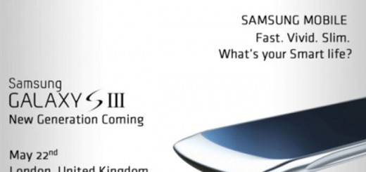 New Samsung Galaxy S III Image leaks; launching on May 22