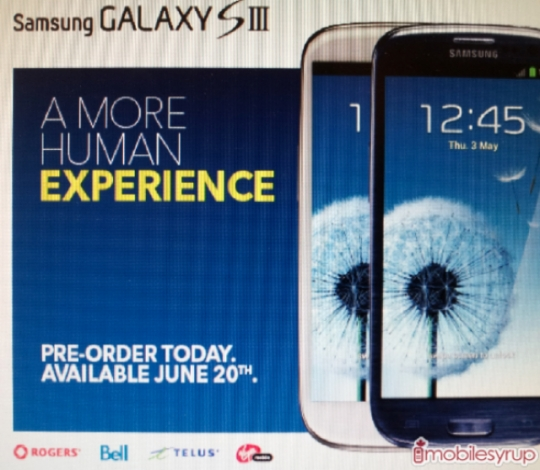 Samsung Galaxy S III Release Date for Canada and US June 20