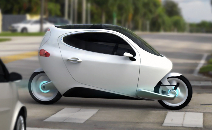 LIT Motors C-1 Electric Vehicle concpet; A MotorCarBike (Video)
