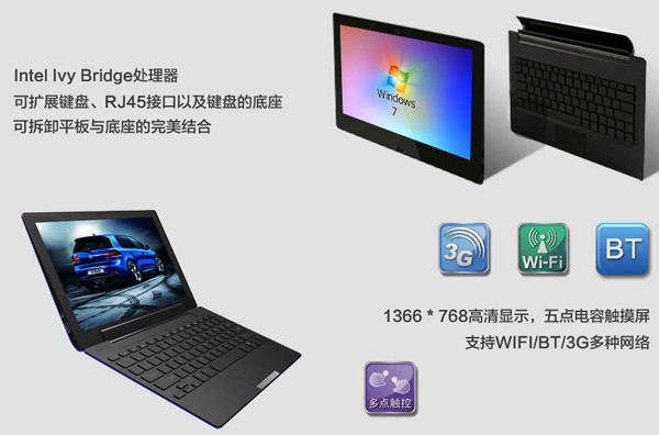 CZC Tech U116T Ultrabook with detachable Keyboard expected at Computex