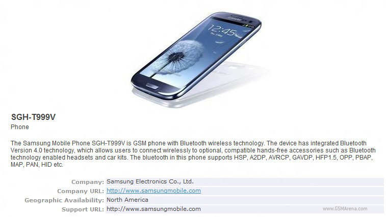 Samsung Galaxy S III for AT&T and T-Mobile confirmed