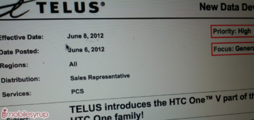 Leak: TELUS to offer HTC One V ICS Smartphone; pricing $29.99