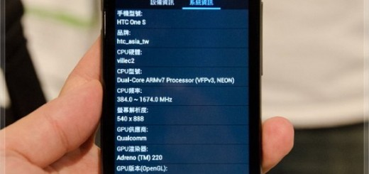 HTC One S releases in Taiwan with Snapdragon S3