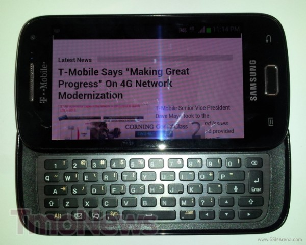 Samsung T699 QWERTY ICS Smartphone spotted
