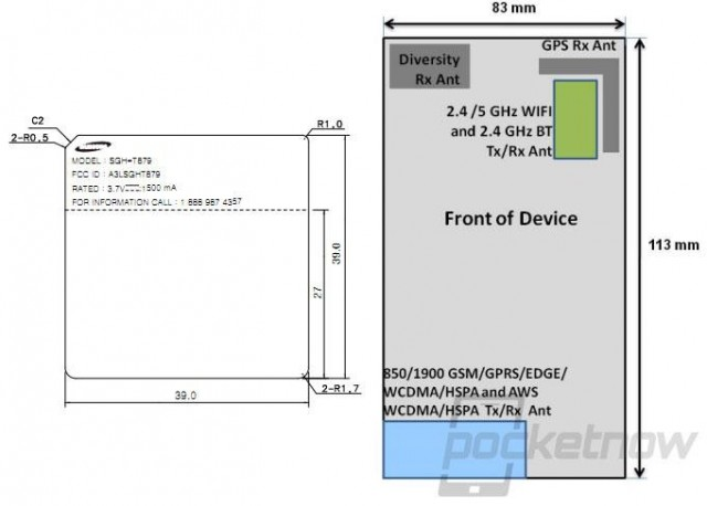 T-Mobile Galaxy Note with SGH-T879 Model Number hits FCC